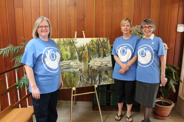 Sister Lesley (far right) has been with the project from the beginning. She was all smiles at the open house.