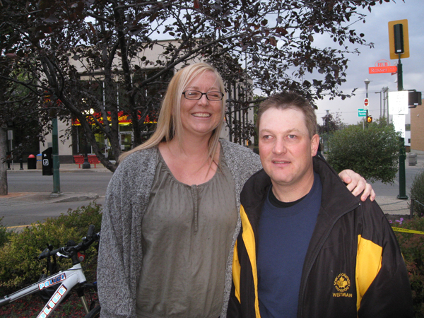 Murray and LIFE RC Tara, at the finish line of the Torch Run!