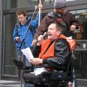 May 1, 2012: Nick Ternette addresses the annual May Day march at Winnipeg City Hall. Photo: Paul S. Graham