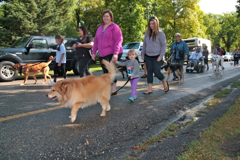 The two-kilometre Woof Walk in Kildonan Park raised $15,000 for D'Arcy's A.R.C.