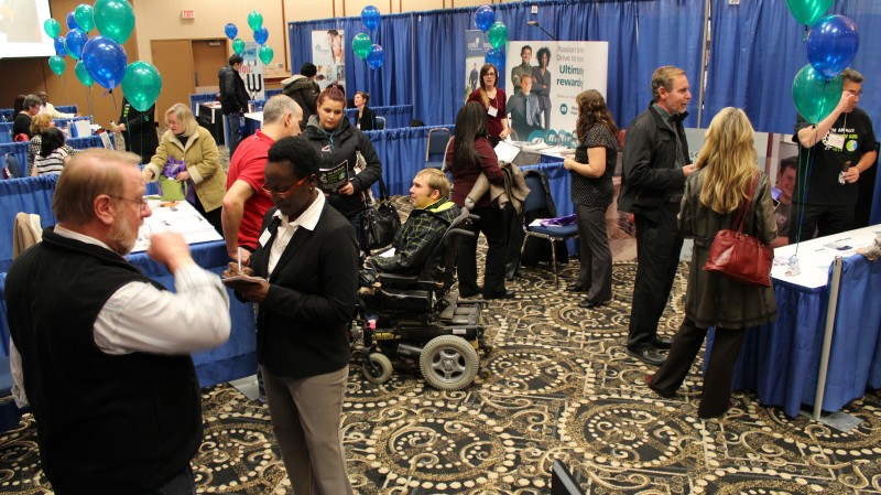 The Ability Axis Expo offered an opportunity for employers to connect with people with disabilities looking for work.