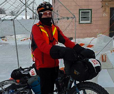 Dan Lockery after the finish of his 241km race. Photo taken by Dallas Sigur.