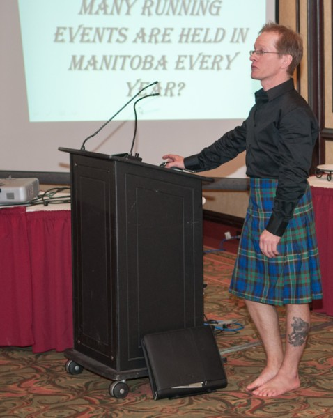 Bob Nicol was the night's MC, donning his famous kilts and bare feet