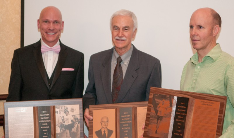 The three Hall of Fame inductees: David Fielder, John Murphy and Dwayne Sandall