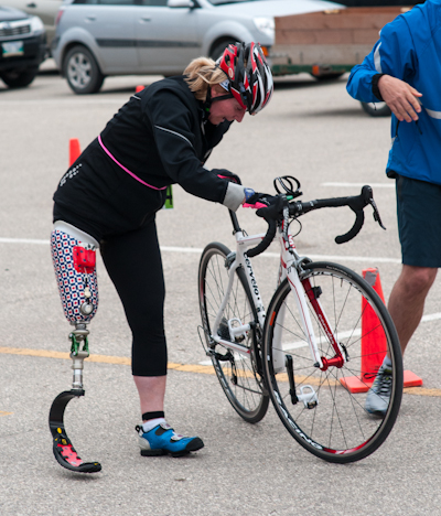 A local duathlete overcoming all obstacles