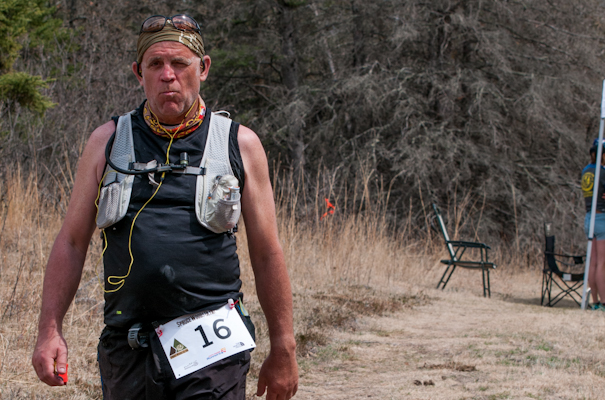 Veteran local ultra-endurance athlete Dale Wohlgemuth after 85 miles and 24 hours. Tough as nails.