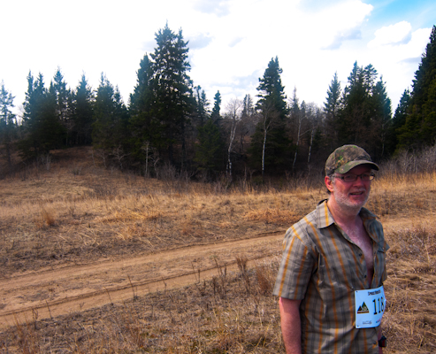 Vern Nelson from the Manitoba Orienteering Association at Spruce Woods Provincial Park