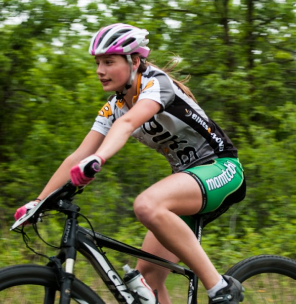 Chloe Penner went on to win this year's Dirt Skirt series held at Bird's Hill Park