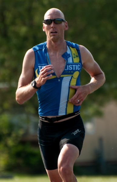 Patrick Peacock wins the 10th annual Kenora Borealis Olympic distance triathlon, held last weekend
