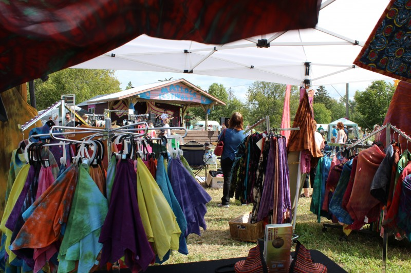 Local vendors and artists display their work while music performances and nature workshops continue all weekend. PHOTO: Noah Erenberg