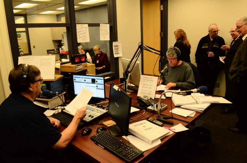It was a festive atmosphere in the new CJNU studio and offices. PHOTO: Doug Kretchmer