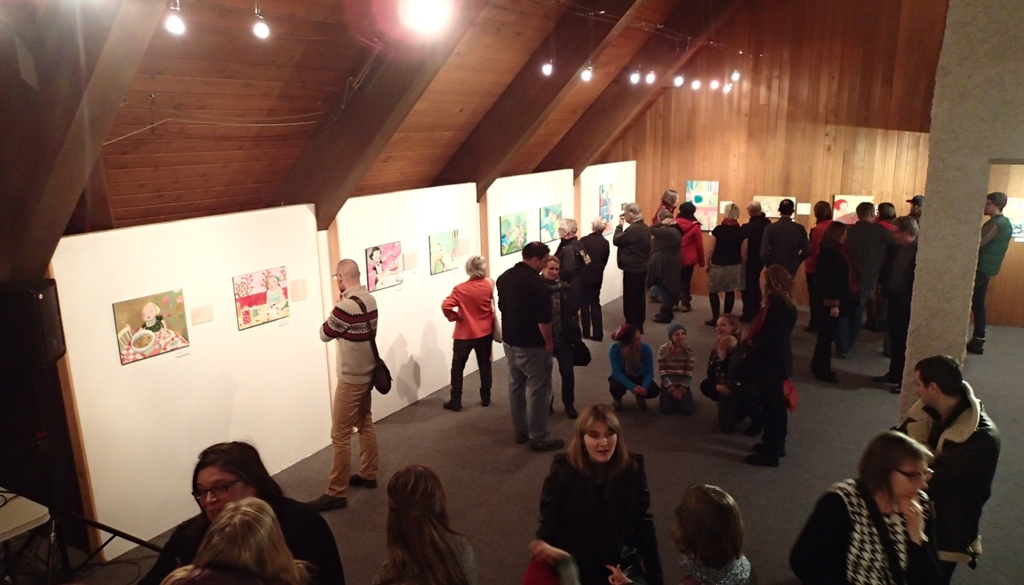 Opening night: over 130 people come out on a stormy night-there is artistic life outside the Exchange