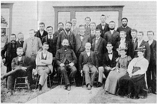 Group of Manitoba Mennonite teachers of the 1890s. Source: Mennonite Archives