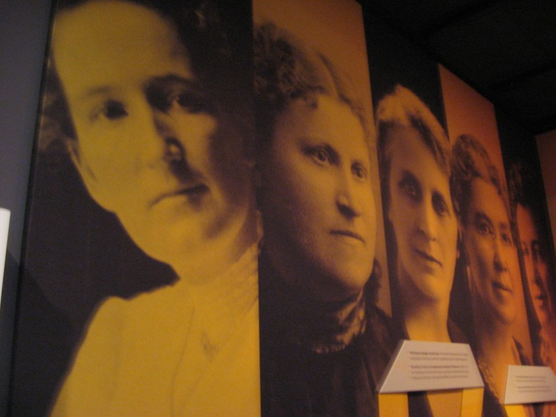 The Famous Five of Women's Suffrage as seen in the Canadian Museum for Human Rights