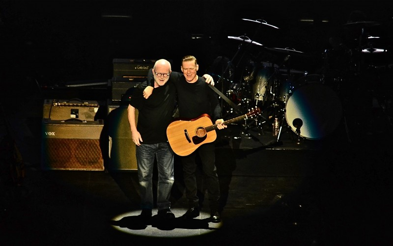Bryan invited longtime songwriting partner Jim Vallance on the stage for Heaven