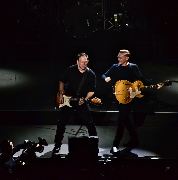 Keith Scott (l) has played with Bryan Adams since the beginning.....