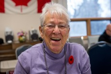Miriam Lovett knows how important it is to get out of her home and socialize. Photo credit: Ian McCausland for The Winnipeg Foundation.