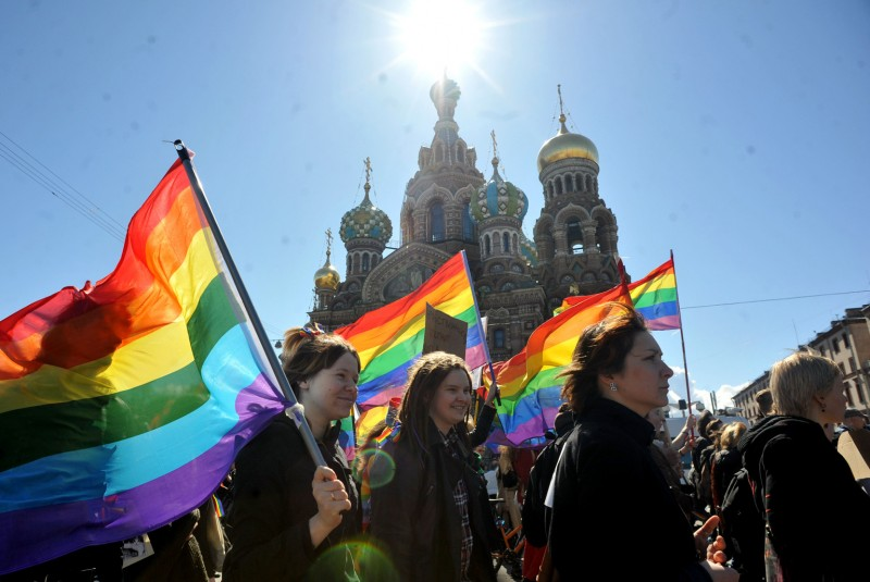 RUSSIA-GAY-RIGHTS-PROTEST