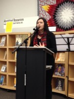 Poet Katherena Vermette at the On The Same Page launch.