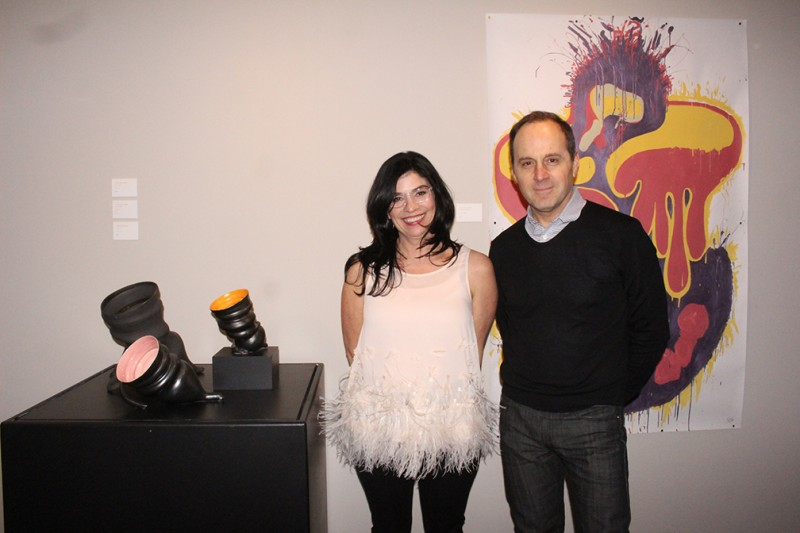 Charlene and WAG CEO Stephen Borys at opening