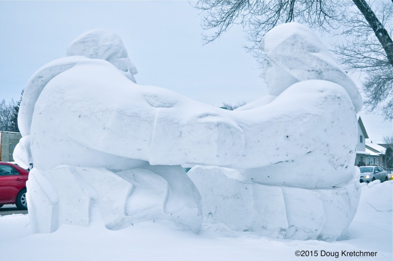 Snow sculptures are the hallmark of Festival du Voyageur. PHOTO: Doug Kretchmer