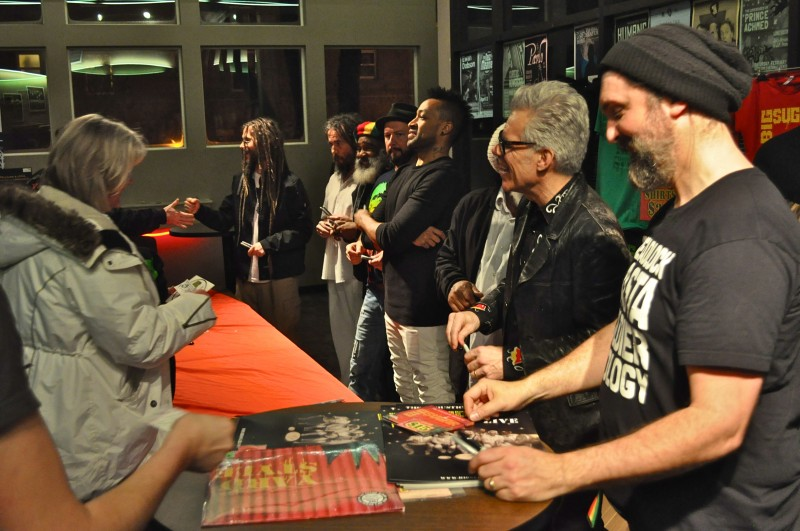 The band came out to sign autographs and say hi after the show