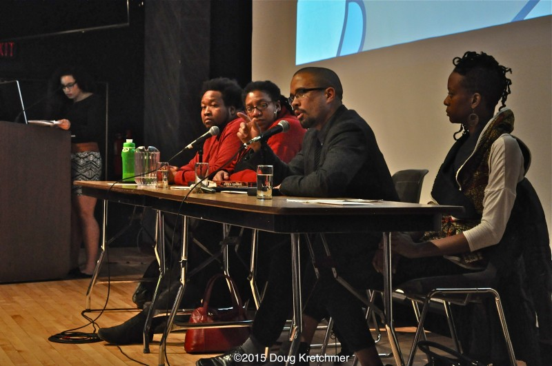 Dear White People was followed by a panel discussion. (l-r) Alexa Potoshnik, Bubba B, Kemlin Nembhard, Paul Lawrie and Tina Opakele