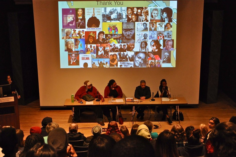 Eckhardt Grammatte Hall at the U of W was the venue for the screening of Dear White People and panel discussion