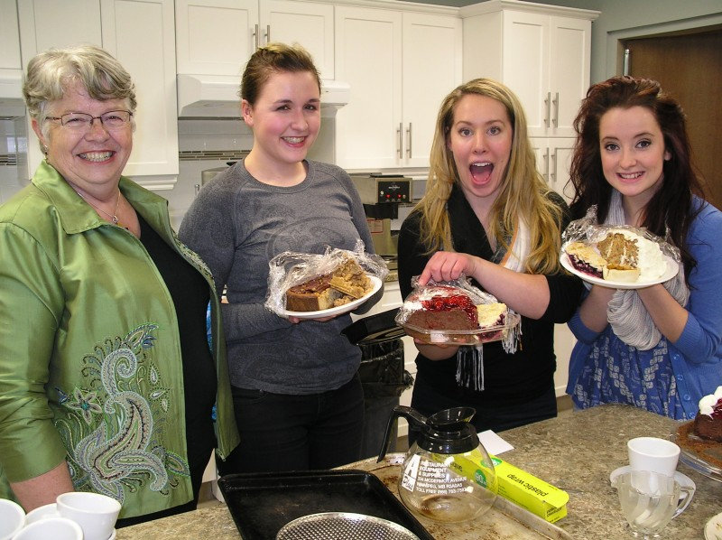 Last year's actors at Nova House in Selkirk with Anna Pazdzerski