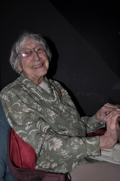 The delightful Delza Longman was at the screening