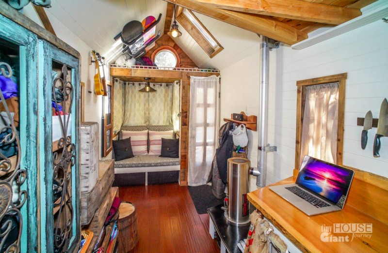 There is a place for everything in this tiny house built by Jenna Spesard and Guillaume Dutilh.