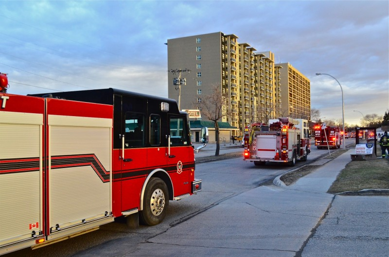 Around 15 fire trucks and emergency response vehicles attended the fire.