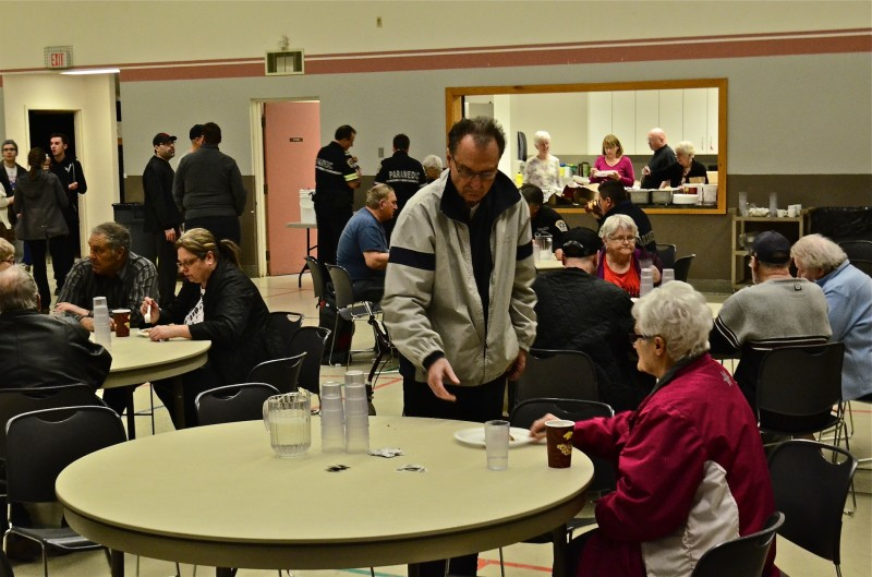 The Westwood Community Church across the street opened up their doors and provided coffee, food and shelter