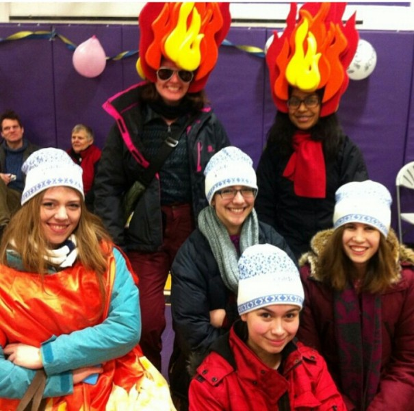 """Fire Nation"" was the SMA YiP team that participated in the RaY Walk on Sat. Feb. 21."