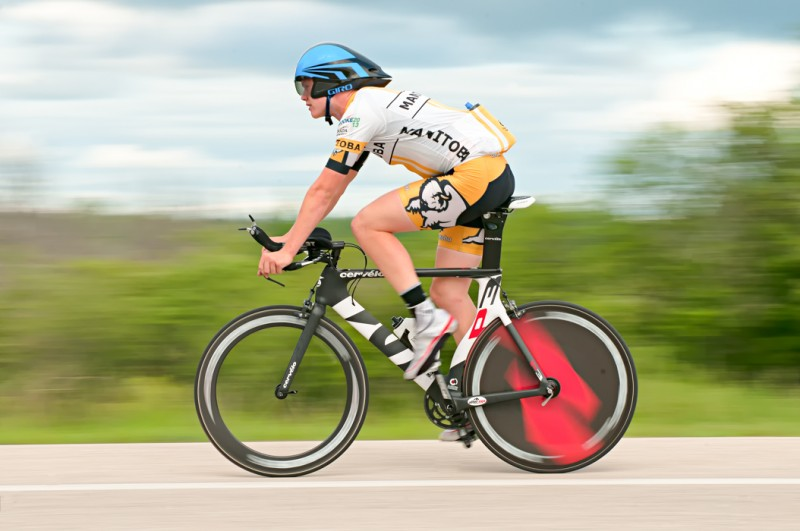 Local racer Willem Boersma wins the Tri vs Roadie Time Trial events last year