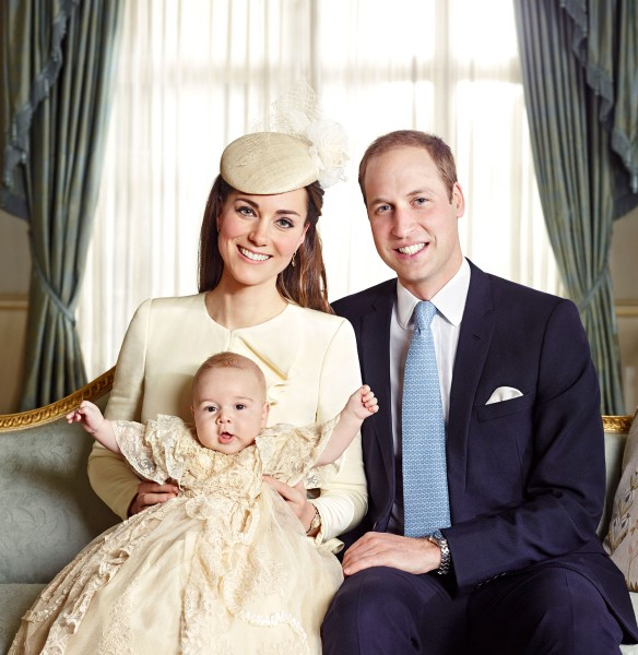 Kate Middleton and Prince William with first-born Prince George