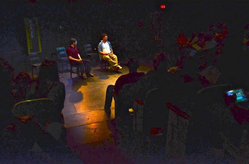...then the audiences asked questions of the two