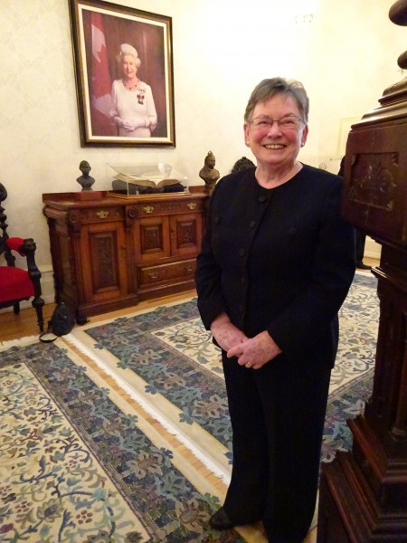 Doreen Oliver at Government House, May 12, 2015.