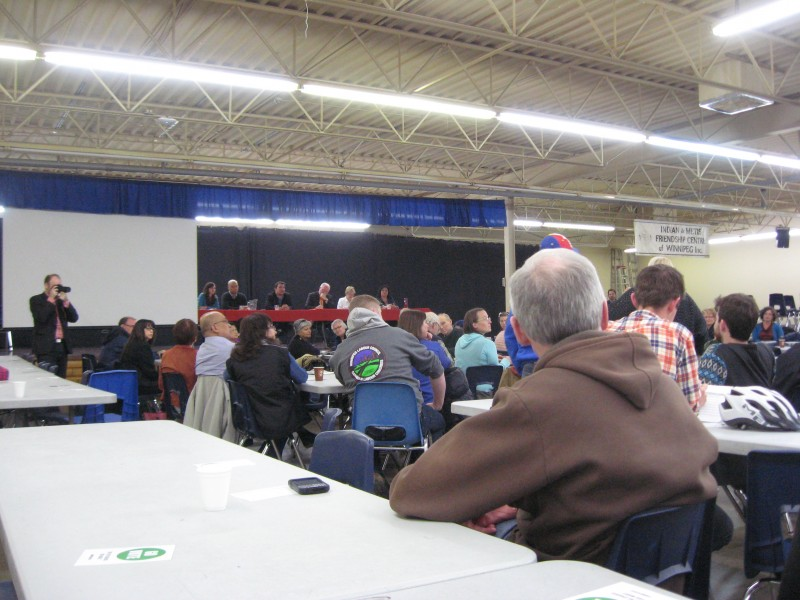 The Go Vote forum was well attended.