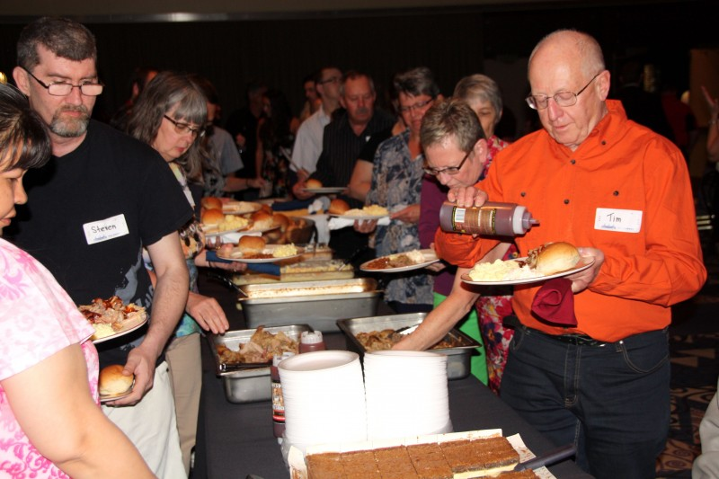 Kleinsasser donates all catering services for the volunteer dinner, which feeds nearly 800 volunteers.