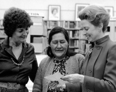Her Honour the Honourable Pearl McGonigal  on the right. Flin Flon Heritage Project