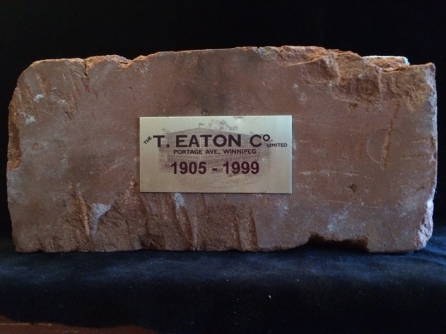 This original brick from Eaton's is an example of why local history buffs love UU Jumbo sales.