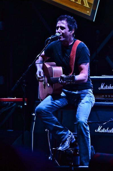 Marc LaBossiere warmed up the crowd with his acoustic set