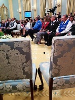 Two empty chairs at Rideau Hall.