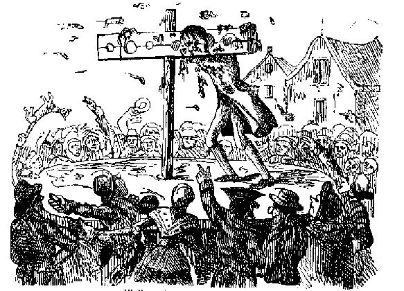 Public humiliation was a key element with the use of the pillory for punishment.