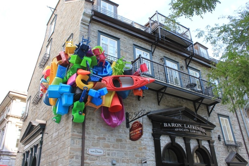 Quebec City art installation: a sign from the kayak gods?