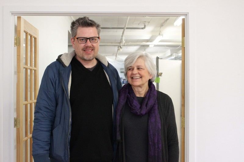 Nigel and Lucille Bart at Artbeat Studio in Winnipeg's Exchange District. Nigel serves as the studio facilitator at the organization and Lucille serves as the executive director.
