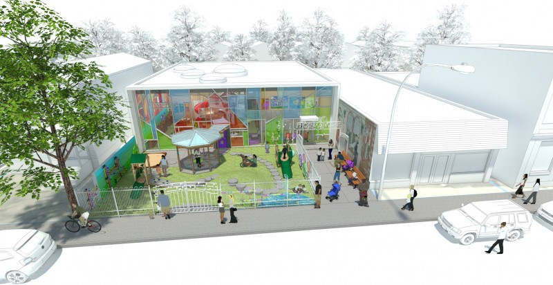 architect's rendition of the Phoenix Sinclair Little Stars Playhouse