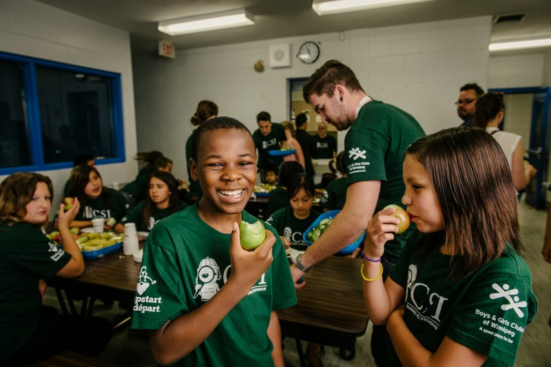 A healthy snack at the Boys and Girls Clubs of Winnipeg's successful CSI program.