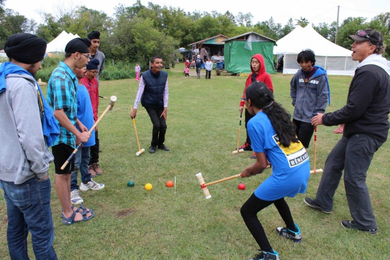 Games of croquet, baseball and cricket are played amidst the music and workshops. PHOTO: Noah Erenberg